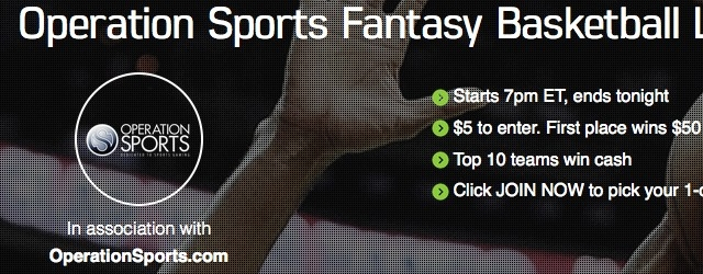 Play In Our Fantasy Basketball This Weekend and Win Cash